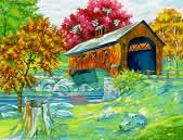 Covered Bridge Paint by Numbers