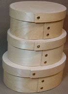 Oval Bentwood Cheese Boxes