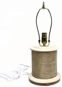Short Bentwood Round Table Lamp