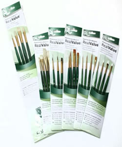Princeton RealValue Series 9100 Brush Sets of 4