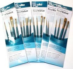 Princeton Real Value Synthetic Golden Taklon Brush Sets