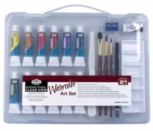 21 Piece Clear View Watercolor Small Set