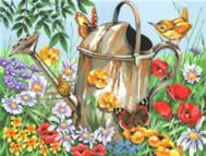 Watering can paint by numbers