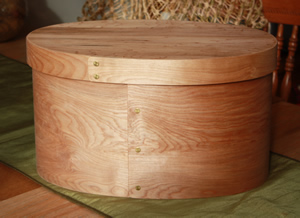 Large Finished Colonial Oval Bonnet Box