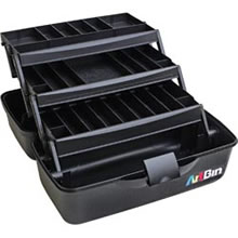 Art Bin Essentials 3 Tray Box, Black