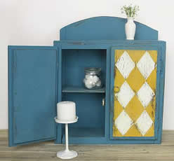 Americana Decor Chalky Finish Painted Cabinet - Harlequin