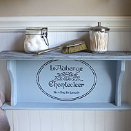 Americana Decor Chalky Paint French Shelf
