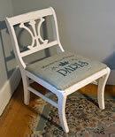 Americana Decor Burlap Chair - The French Inn