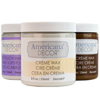 Americana Decor Finishing Options - Waxes and Varnishes