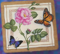 Painted Butterflies project - Butterflies and Roses
