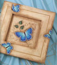 Painted Butterflies - Elusive Big Blue by Tracy Moreau