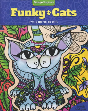 Funky Cats Coloring Books Front Cover