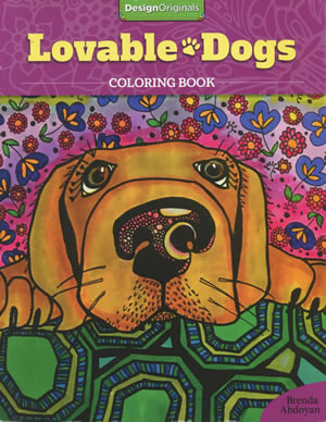 Lovable Dogs Coloring Book Front Cover