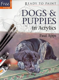Dogs and Puppies in Acrylics by Paul Apps