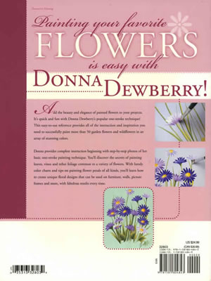 Flowers A to Z with Donna Dewberry back cover