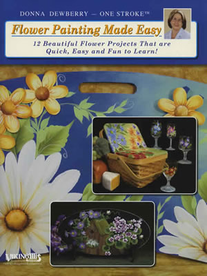 One Stroke Flower Painting Made Easy front cover