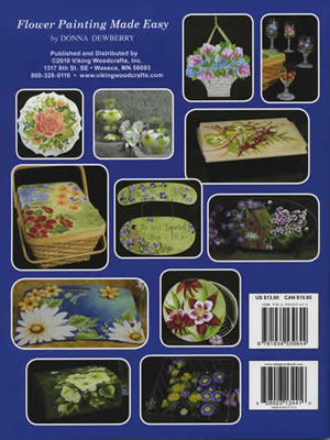 One Stroke Flower Painting Made Easy back cover