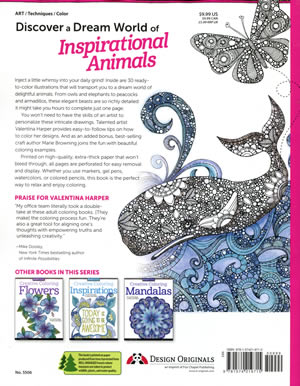Creative Coloring Animals By Valentina Harper Adult