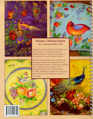 Victoria's Painted Garden by Jo Sonja Jansen Back Cover