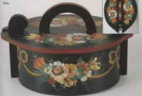 Norwegian Rosemaling on Oval Tine Box
