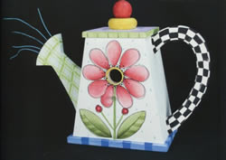 Watering Can Birdhouse in Shara's Funky Folk Art 2