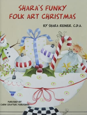 Shara's Funky Folk Art Christmas front cover