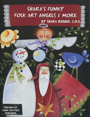Shara's Funky Folk Art Angels and More front cover