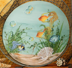 Fish in a Bowl - Gran Decorates by Ros Stallcup