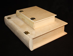 Wood Book Boxes