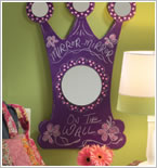Mirror Chalkboard Paint Example