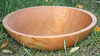 Hardwood Cherry Bowl with Bee's Oil Finish