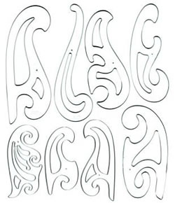 French Curve Set of 8 with inking edge