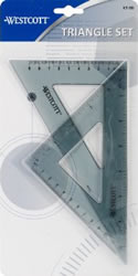 "2"" Calibrated Triangle Set of 2, Acme C-Thru"
