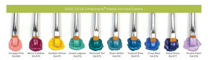 DecoArt Americana 10 All-New Colors for 2019, 2 oz. bottles