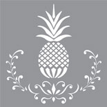Posh Pineapple, Americana Stencil Decor