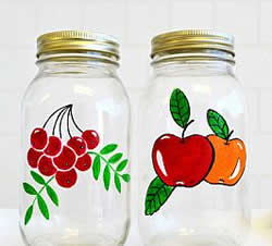 DecoArt Gloss Enamels - Painted Fruit Jars