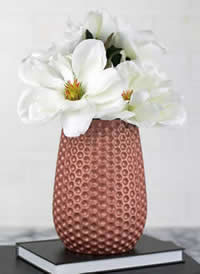 Rose Gold Flower Vase, DecoArt Matte Metallic