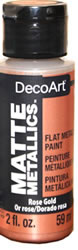 DecoArt Matte Metallic - Rose Gold, 2 oz.