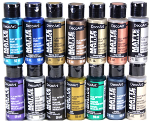 DecoArt Matte Metallic Paints, 2 oz.