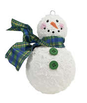 Snowman ornament with Snow-Tex