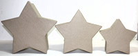 Paper Mache Stacking Star Boxes