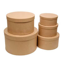 Paper Mache Round Stacking Box Set