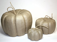 Pumpkin Patch, Set of 3 Paper Mache Pumpkins