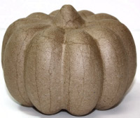 Medium Paper Mache Pumpkin
