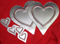 Tin Heart Plaques