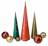 Painted Modern Christmas Tree Steeple People