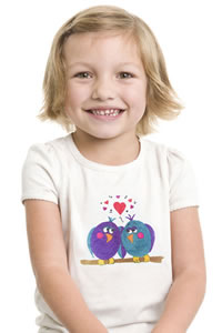"DecoArt Ink Effects ""Love Birds"" Childs T-Shirt Project"