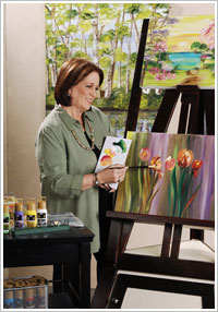 Donna Dewberry High Definition Visual Texture Acrylic Painting