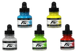 FW Acrylic Artists Inks by Daler Rowney