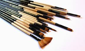Dynasty Black Gold Short Handle Brushes